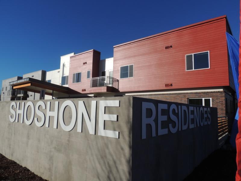 Front view Shoshone Senior Residences